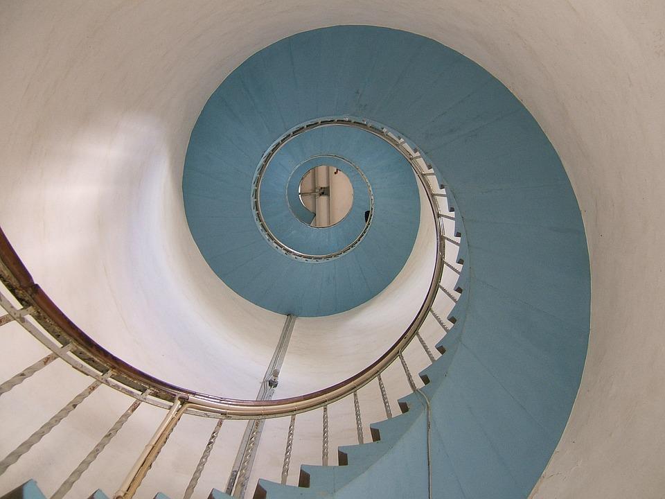 schodiště hlemýžď